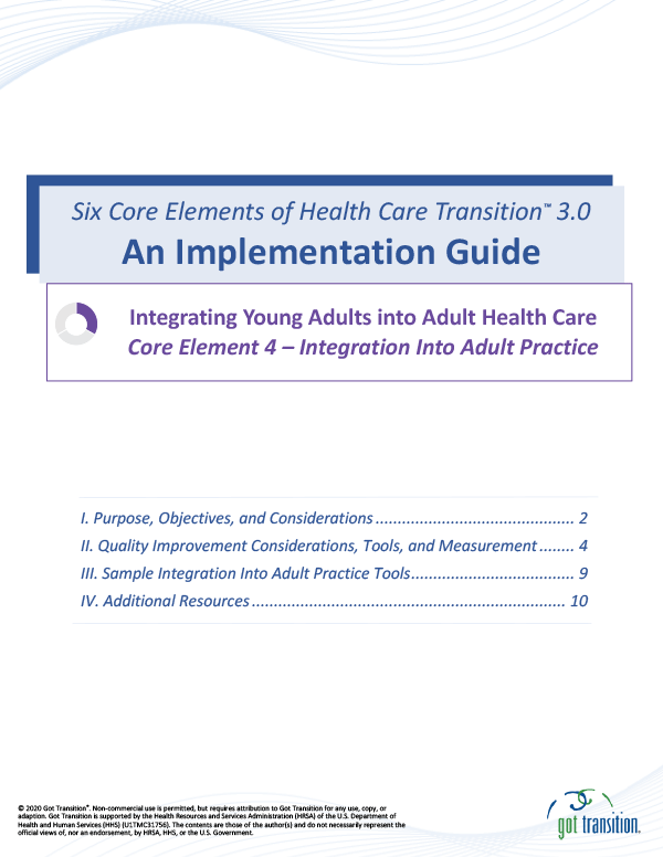 Implementation Guide: Integration into Adult Practice Thumbnail