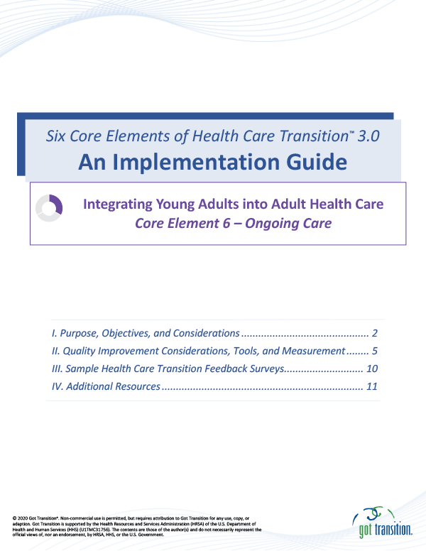 Implementation Guide: Ongoing Care Thumbnail