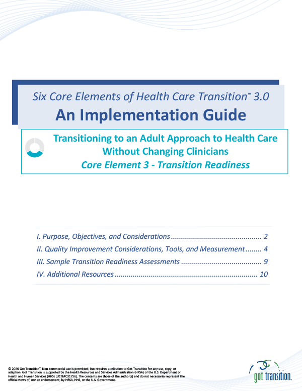 Implementation Guide: Transition Readiness Thumbnail